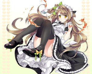 Rating: Safe Score: 158 Tags: brown_hair ice_aptx long_hair love_live!_school_idol_project maid minami_kotori panties thighhighs underwear User: Wiresetc