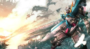 Rating: Safe Score: 33 Tags: animal bird city clouds exia keiji_asakawa mecha mobile_suit_gundam mobile_suit_gundam_00 sky User: Kulag