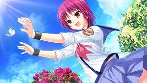 Rating: Safe Score: 33 Tags: angel_beats! clouds game_cg iwasawa_masami key na-ga school_uniform sky User: Tensa