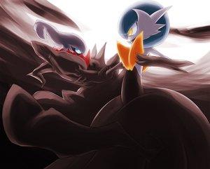Rating: Safe Score: 59 Tags: blue_eyes darkrai gardevoir pokemon yellow_eyes User: Mhand16