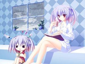Rating: Safe Score: 109 Tags: 77 book drink gray_hair mikagami_mamizu tsuneha_aki User: Xtea
