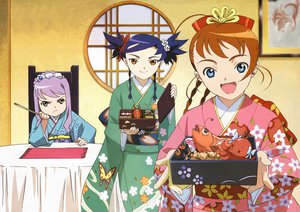 Rating: Questionable Score: 15 Tags: japanese_clothes kimono mai-otome mashiro_blan_de_windbloom nina_wang yumemiya_arika User: 秀悟
