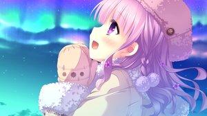 Rating: Safe Score: 111 Tags: blush close clouds flowers game_cg hat hulotte ikegami_akane imouto_no_okage_de_mote_sugite_yabai long_hair purple_eyes purple_hair sky stars yonaga_aoba User: Maboroshi