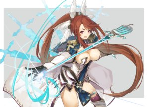 Rating: Questionable Score: 39 Tags: breasts brown_hair cruel_gz gloves ingrid_(sennen_sensou_aigis) long_hair pink_eyes ponytail sennen_sensou_aigis sword thighhighs weapon User: BattlequeenYume