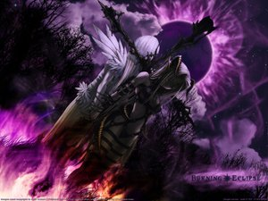 Rating: Safe Score: 108 Tags: 2girls cross fire gothic horns long_hair mizusawa_hikaru moon night original pointed_ears sky white_hair wings User: Oyashiro-sama