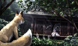 Rating: Safe Score: 100 Tags: animal building forest fox original ryosios tree User: luckyluna