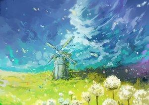 Rating: Safe Score: 38 Tags: axle grass original windmill User: RyuZU