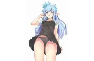 Rating: Questionable Score: 68 Tags: aliasing aqua_eyes aqua_hair blush cameltoe dress erin_(granblue_fantasy) granblue_fantasy long_hair panties pointed_ears rasahan skirt_lift summer_dress underwear upskirt white User: otaku_emmy