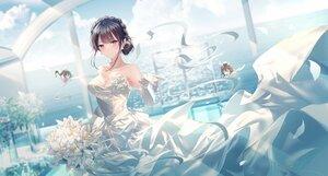 Rating: Safe Score: 86 Tags: junpaku_karen makinohara_shouko seishun_buta_yarou wedding_attire User: Fepple