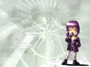 Rating: Safe Score: 15 Tags: chibi ghost_in_the_shell kusanagi_motoko red_eyes wink User: Oyashiro-sama
