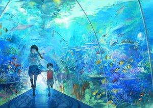 Rating: Safe Score: 91 Tags: animal biiji black_hair fish food ice_cream original school_uniform underwater water User: FormX