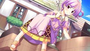 Rating: Safe Score: 71 Tags: dress game_cg ko~cha purple_hair ritos_tortilla shukufuku_no_campanella windmill_oasis User: Wiresetc