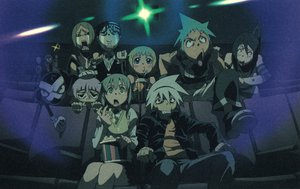 Rating: Safe Score: 86 Tags: black_star dark death_scythe_(soul_eater) death_the_kid elizabeth_thompson franken_stein maka_albarn nakatsukasa_tsubaki patricia_thompson soul_eater soul_eater_evans User: Zloan