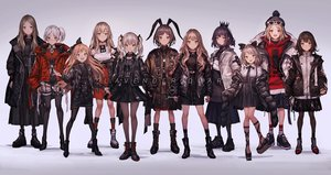 Rating: Safe Score: 93 Tags: animal_ears blonde_hair boots bow brown_eyes brown_hair bunny_ears choker crown dress garter_belt gloves gothic gray_hair group hat hoodie kneehighs lm7_(op-center) loli lolita_fashion long_hair orange_eyes original pantyhose ponytail purple_eyes red_eyes short_hair shorts skirt stockings sunglasses thighhighs twintails white_hair User: RyuZU