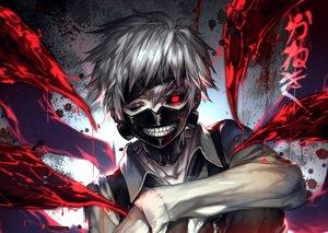 Rating: Safe Score: 179 Tags: all_male kaneki_ken kawacy male mask red_eyes short_hair tokyo_ghoul white_hair User: SkeeZz