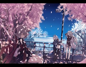 Rating: Safe Score: 51 Tags: animal animal_ears book braids cat cherry_blossoms clouds foxgirl gray_eyes gray_hair hat original ozshia_(shia-ushio) petals short_hair shorts sky tail thighhighs witch_hat User: RyuZU