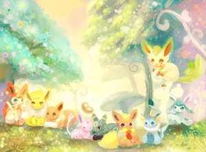 Rating: Safe Score: 13 Tags: eevee espeon flareon ginger_ale_(huwahuwaryuo) glaceon jolteon leafeon pokemon sylveon umbreon vaporeon User: FormX