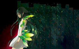 Rating: Safe Score: 150 Tags: green_eyes green_hair hrd saya saya_no_uta third-party_edit User: Eagleshadow