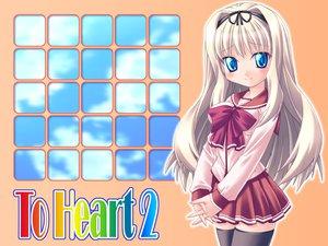 Rating: Questionable Score: 6 Tags: blue_eyes ishihara_masumi kusugawa_sasara school_uniform to_heart to_heart_2 white_hair User: 秀悟
