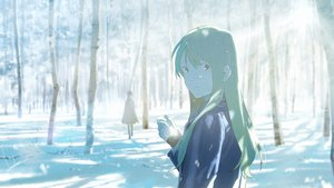 Rating: Safe Score: 33 Tags: forest green_hair long_hair loundraw original signed snow tree winter User: RyuZU