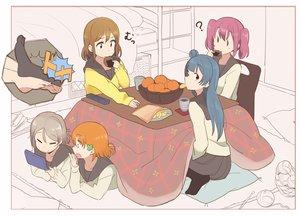 Rating: Safe Score: 55 Tags: blue_hair brown_hair drink food fruit game_console gray_hair group kasa_list kotatsu kunikida_hanamaru kurosawa_ruby love_live!_school_idol_project love_live!_sunshine!! orange_(fruit) orange_hair pink_hair school_uniform short_hair takami_chika tsushima_yoshiko watanabe_you User: otaku_emmy