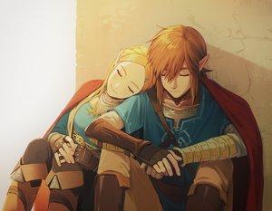 Rating: Safe Score: 104 Tags: blonde_hair boots braids gloves link_(zelda) long_hair male orange_hair pointed_ears princess_zelda sophie_(pixiv693432) the_legend_of_zelda User: otaku_emmy