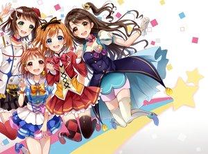 Rating: Safe Score: 29 Tags: amami_haruka crossover group idolmaster idolmaster_cinderella_girls kousaka_honoka love_live!_school_idol_project love_live!_sunshine!! sakura_hiyori shimamura_uzuki takanashi_chika User: RyuZU