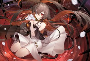 Rating: Safe Score: 77 Tags: alchemy_stars bandage brown_hair dress eve_(alchemy_stars) eyepatch flowers ion_(on01e) long_hair petals red_eyes techgirl water User: BattlequeenYume
