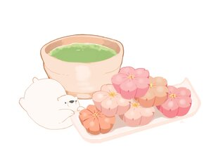 Rating: Safe Score: 12 Tags: animal bear chai_(artist) drink food nobody original polychromatic signed white User: otaku_emmy