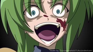 Rating: Safe Score: 63 Tags: blood blue_eyes close green_hair higurashi_no_naku_koro_ni signed sonozaki_shion vector watermark User: 秀悟