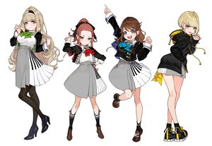 Rating: Safe Score: 34 Tags: aqua_eyes blonde_hair brown_hair group headband hoodie kaname_mahiro kaname_mahiro_channel kneehighs long_hair otonoha_naho pantyhose ponytail red_eyes red_hair seifuku short_hair skirt socks suzuna_subaru touma_rin white wristwear yellow_eyes yuu_(higashi_no_penguin) User: otaku_emmy