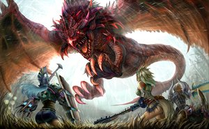 Rating: Safe Score: 155 Tags: kirin_(armor) monster_hunter rathalos tagme User: Dragoonxxx
