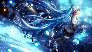 Rating: Safe Score: 109 Tags: blue blue_eyes blue_hair hatsune_miku headphones komecchi long_hair skirt thighhighs tie twintails vocaloid User: Flandre93