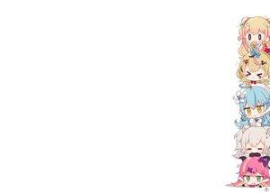 Rating: Safe Score: 38 Tags: animal_ears bell black_eyes blonde_hair blue_hair blush bow brown_hair catgirl cat_smile chibi demon fang food foxgirl fruit gloves gray_hair green_eyes group hat hololive horns long_hair mano_aloe momosuzu_nene muuran omaru_polka pink_hair pointed_ears shishiro_botan short_hair signed sleeping twintails white wristwear yellow_eyes yukihana_lamy User: otaku_emmy