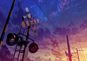 Rating: Safe Score: 45 Tags: clouds mocha_(cotton) nobody original scenic signed sky stars sunset train User: otaku_emmy