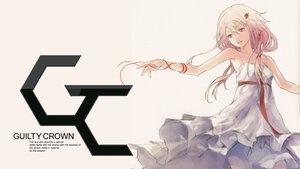 Rating: Safe Score: 122 Tags: dress guilty_crown pink_hair red_eyes redjuice ribbons white yuzuriha_inori User: meccrain