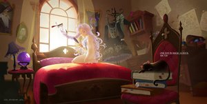 Rating: Safe Score: 60 Tags: animal bed book cat gray_hair long_hair lost_elle magic music original see_through signed User: SciFi