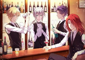 Rating: Safe Score: 12 Tags: all_male bedivere blonde_hair bow drink fate/grand_order fate_(series) gawain gray_hair green_eyes group lancelot_(fate) long_hair male purple_eyes purple_hair red_hair short_hair tagme_(artist) tie tristan_(fate/grand_order) yellow_eyes User: RyuZU