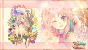 Rating: Safe Score: 42 Tags: 3girls atelier_meruru blonde_hair blue_eyes dress hat kishida_mel long_hair merurulince_rede_arls rororina_fryxell totooria_helmold zoom_layer User: Katsumi