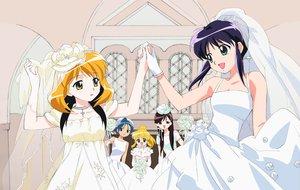 Rating: Safe Score: 14 Tags: andou_mahoro andou_minawa dress headdress mahoromatic shoujo_ai tagme_(character) wedding wedding_attire User: Oyashiro-sama
