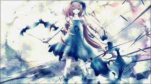 Rating: Safe Score: 85 Tags: aonoe clouds dress megurine_luka vocaloid User: MissBMoon