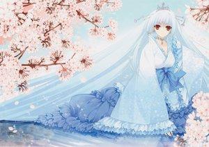 Rating: Safe Score: 89 Tags: blue_hair crown dress flowers long_hair original red_eyes suzuhira_hiro User: Wiresetc