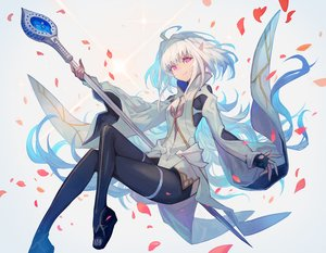 Rating: Safe Score: 31 Tags: fate/grand_order fate_(series) gloves lack merlin_(fate/prototype) petals pink_eyes pointed_ears short_hair white_hair User: otaku_emmy