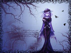 Rating: Safe Score: 35 Tags: blue butterfly collar dress gothic long_hair purple_hair tagme User: Oyashiro-sama