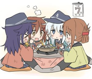 Rating: Safe Score: 33 Tags: akatsuki_(kancolle) anthropomorphism autumn black_hair blue_eyes blue_hair blush brown_eyes brown_hair chibi fang food group hat hibiki_(kancolle) hizuki_yayoi ikazuchi_(kancolle) inazuma_(kancolle) japanese_clothes kantai_collection kotatsu long_hair school_uniform short_hair sketch skirt User: otaku_emmy