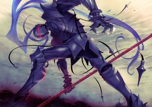 Rating: Safe Score: 31 Tags: all_male armor clouds fate_(series) fate/stay_night fate/zero lancelot_(fate) male semi_(semi_finalfight) sky spear weapon User: RyuZU