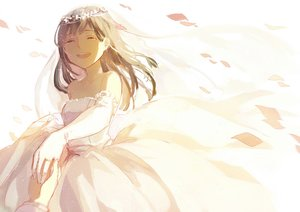 Rating: Safe Score: 46 Tags: original tamomoko wedding_attire User: luckyluna