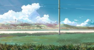 Rating: Safe Score: 48 Tags: building city clouds grass nobody original scenic sky tagme_(artist) User: RyuZU