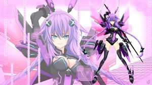 Rating: Safe Score: 46 Tags: blue_eyes bodysuit braids breasts cleavage cundodeviant hyperdimension_neptunia long_hair neptune purple_hair purple_heart signed thighhighs twintails weapon wing zoom_layer User: gnarf1975