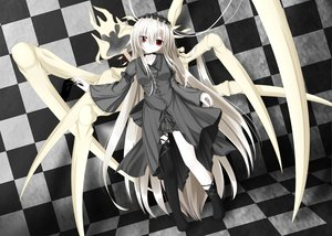 Rating: Safe Score: 69 Tags: dress gray_hair long_hair masiroke red_eyes tagme User: Wiresetc